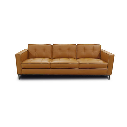 divano moderno / per zona reception / in pelle / per uso contract