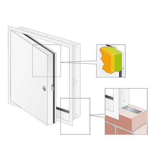 sportello d'ispezione per parete / quadrato / in metallo / tagliafuoco