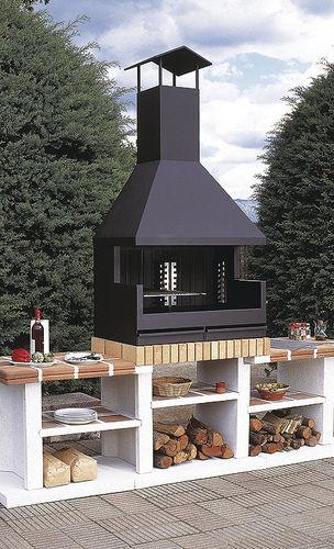 barbecue a legna / da incasso / in metallo