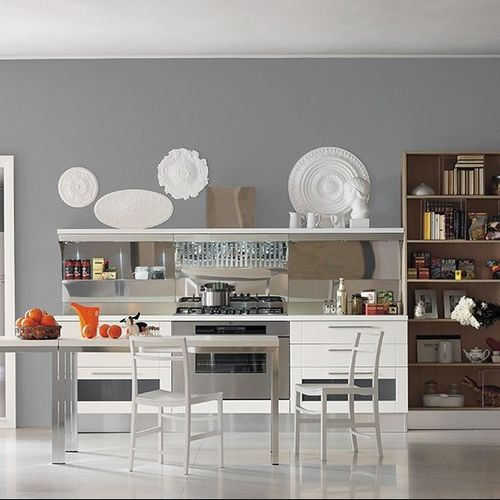 tavolo moderno / in legno / in alluminio / rettangolare