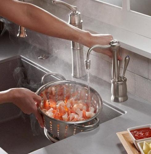 miscelatore per lavabo / in acciaio inox / da cucina / 1 foro
