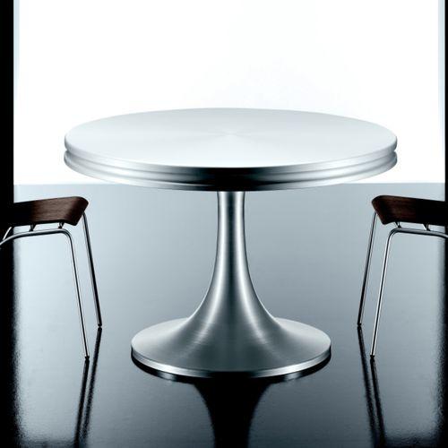 tavolo moderno / in alluminio / tondo