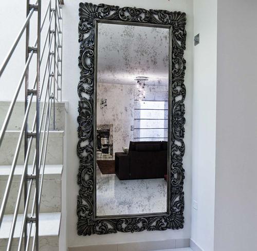 specchio a muro / in stile / rettangolare / in legno