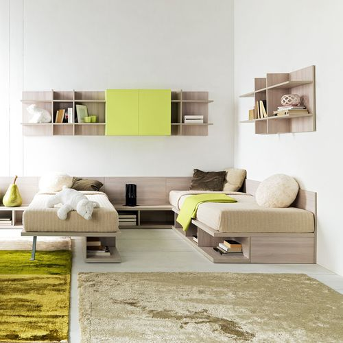 cameretta bianca / verde / in legno / unisex