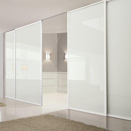 parete scorrevole / in vetro / per uso residenziale