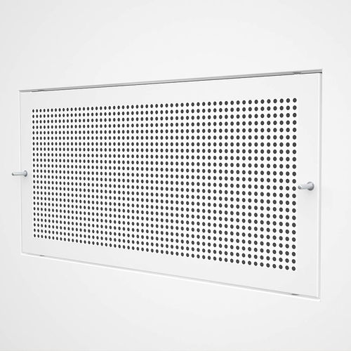 griglia di ventilazione in acciaio / in acciaio inox / rettangolare / bianca