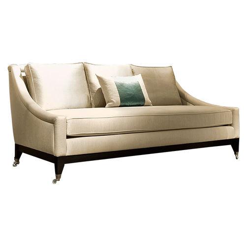 divano classico / in tessuto / 3 posti / con rotelle