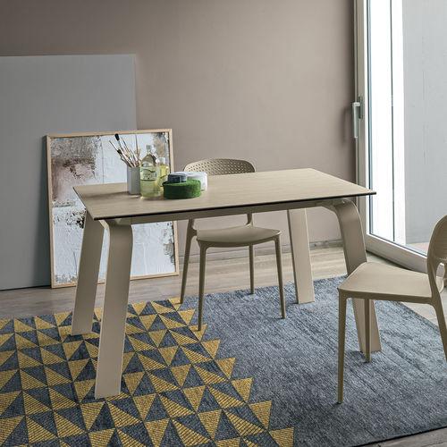 Tavolo da pranzo moderno / in MDF / in vetro temprato / in metallo verniciato DEIMOS 130 Target Point New