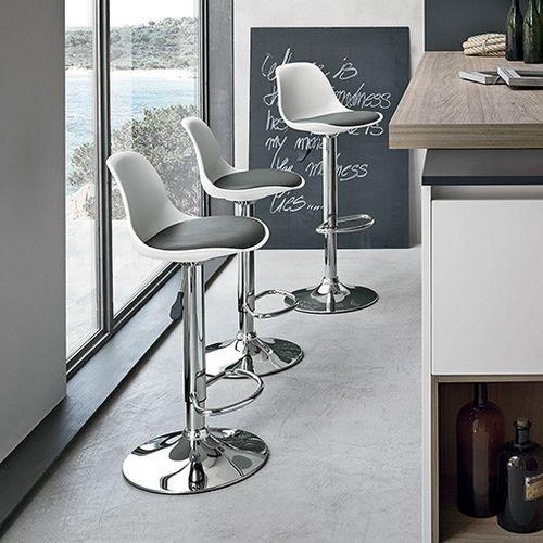 Sedia alta moderna / in polipropilene / in acciaio cromato / ad altezza regolabile STOCCOLMA Target Point New