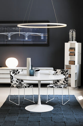 Tavolo da pranzo moderno / in vetro / in vetro temprato / rotondo FLUTE Target Point New