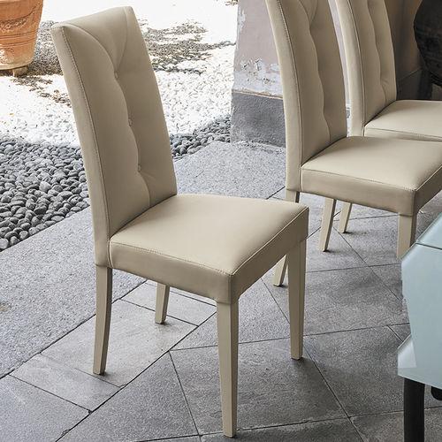 Sedia da pranzo moderna / in legno laccato / in legno / imbottita ZURIGO Target Point New