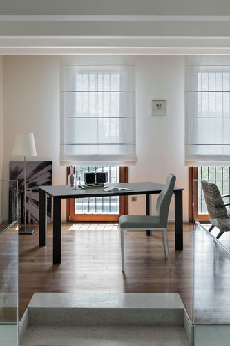 Tavolo da pranzo moderno / in gres porcellanato / in laminato / in vetro temprato SATURNO 160 Target Point New