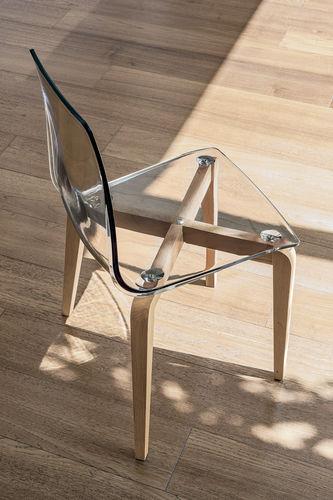 Sedia moderna / in legno / in policarbonato / trasparente BERLINO Target Point New