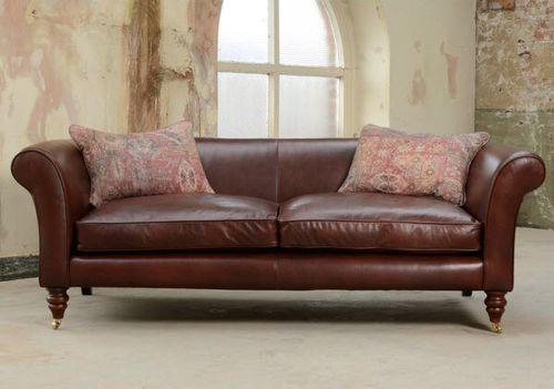 divano classico / in pelle / in tessuto / 2 posti