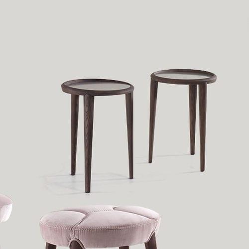 tavolo d'appoggio classico / in legno / in vetro / tondo