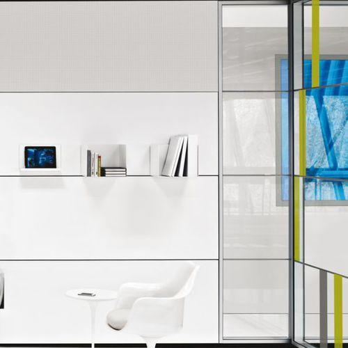parete amovibile / in legno / in acciaio / vetrata