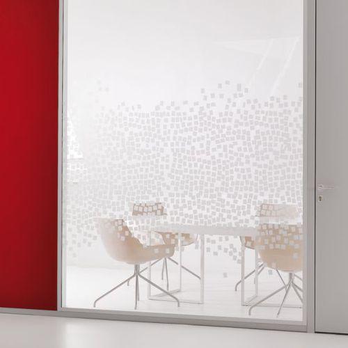 parete amovibile / in metallo / vetrata / da ufficio