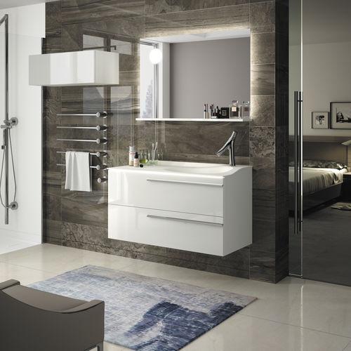 mobile lavabo doppio / sospeso / in legno / in laminato