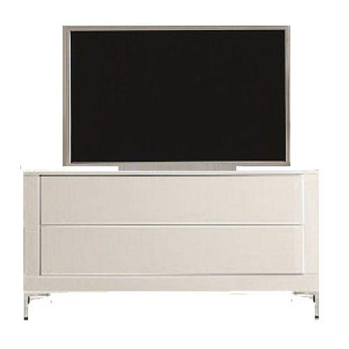 mobile porta TV moderno / lowboard / in legno / in vetro