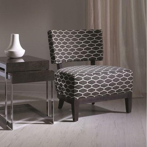 chauffeuse moderna / in tessuto / in legno