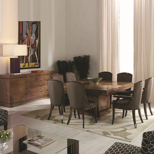 tavolo da pranzo moderno / in legno / quadrato / allungabile