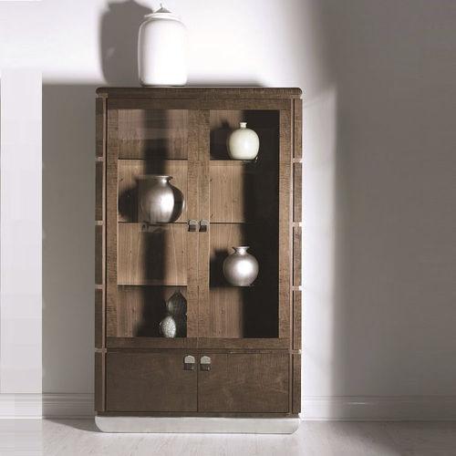 vetrina moderna / in legno / in metallo