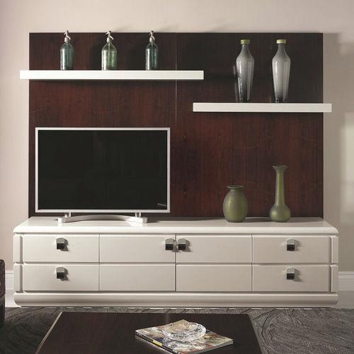 parete attrezzata TV moderno / in legno / in metallo