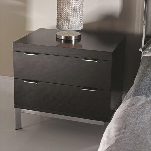 comodino moderno / in legno / in metallo / rettangolare