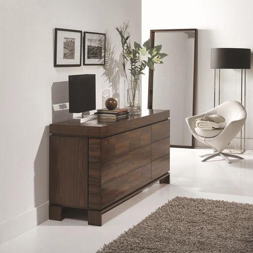 cassettone moderno / in legno / con specchio