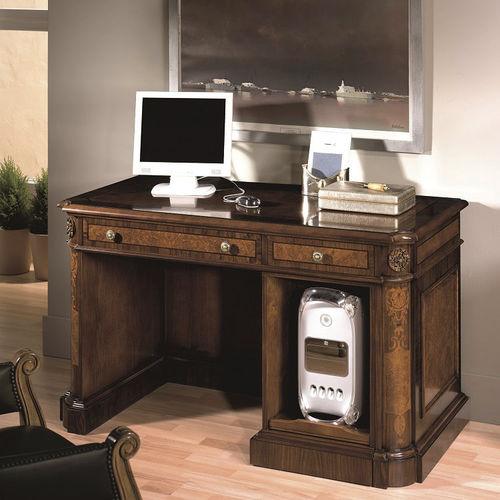 scrivania portacomputer classica / in legno / rettangolare / per computer portatile