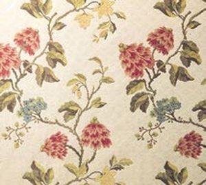 tessuto da tappezzeria / a fiori / in cotone / in viscosa