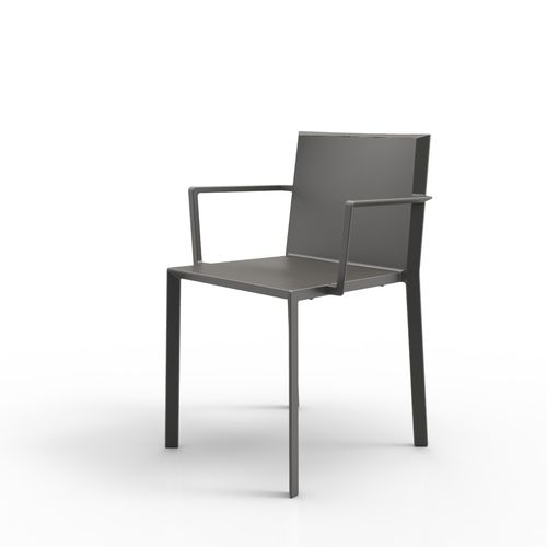 Sedia moderna / con braccioli / impilabile / in poliammide QUARTZ by Ramón Esteve VONDOM