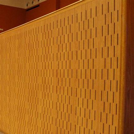controsoffitto in legno / in pannelli / acustico / ignifugo
