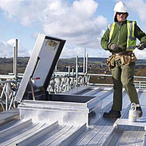 botola per tetto / quadrata / con scale / in alluminio
