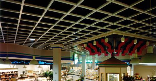 controsoffitto in legno / in pannelli / con griglia