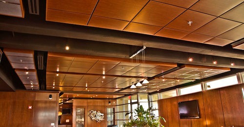 controsoffitto in legno / a quadrotte / acustico