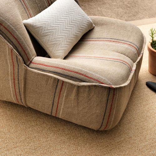 tessuto da tappezzeria / per tende / a righe / in lino