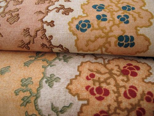 tessuto da tappezzeria / a fiori / in cotone / in lino