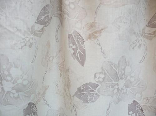 tessuto da tappezzeria / a fiori / in lino