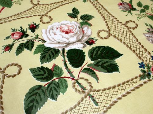 tessuto da tappezzeria / a fiori / in cotone