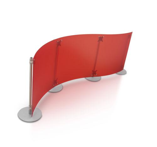 Divisorio per ufficio a pavimento / in plastica / modulare FLUOWALL PARTITION WALL PAXTON