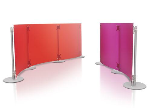 Divisorio per ufficio a pavimento / in plastica / modulare FLUOWALL LOW PAXTON
