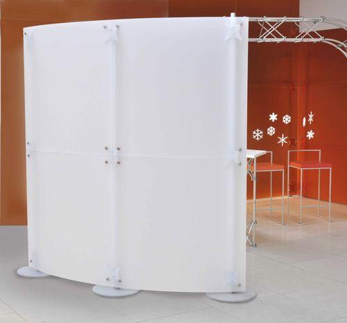 divisorio per ufficio a pavimento / in acrilico / modulare