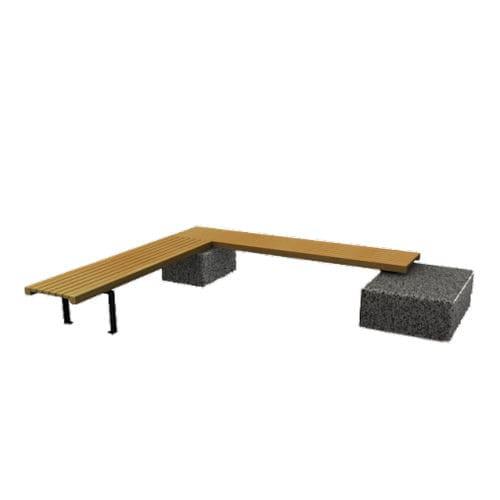 panca pubblica / classica / in legno