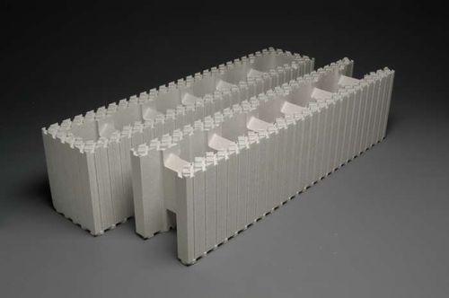 blocco cassero in polistirene espanso PSE / per muro / per seminterrato / isolante