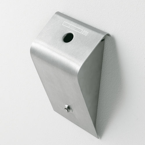 portacenere a muro / in acciaio inossidabile / per esterni / per spazio pubblico