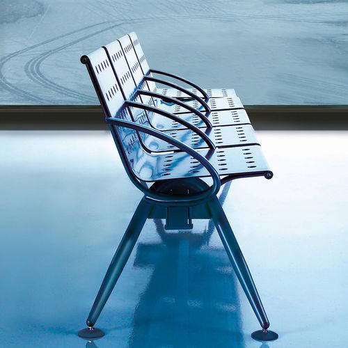 seduta su barra in acciaio / in acciaio con rivestimento a polvere / 3 posti / 4 posti