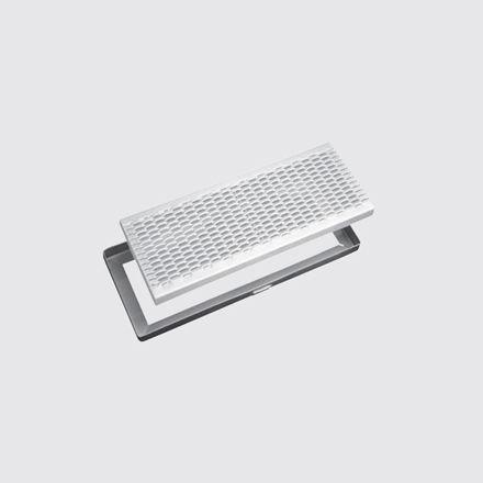canaletta per spazio pubblico / in metallo / con griglie / di protezione