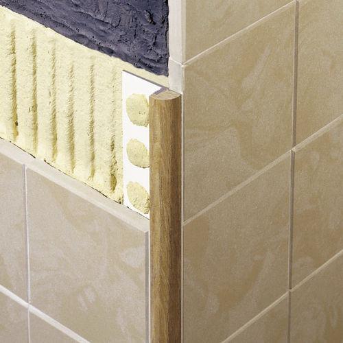 profilo di finitura in legno / per piastrelle / angolare tondo