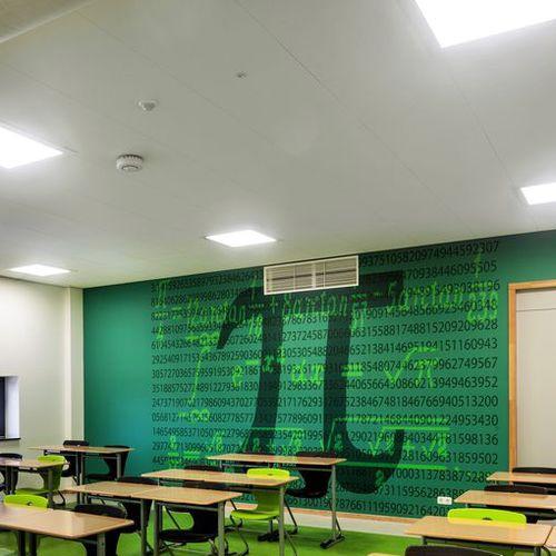 pannello acustico per controsoffitto / per muro interno / in lana di legno / per edifici pubblici